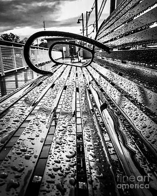 Rainy Days Bench Art Print by JMerrickMedia