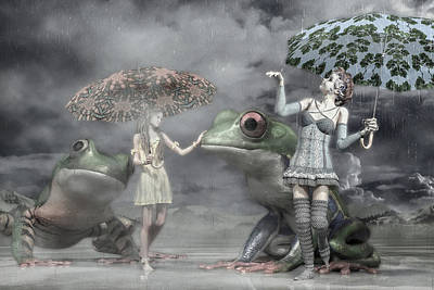Fantasy Royalty-Free and Rights-Managed Images - Rainy Day Daydream  by Betsy Knapp