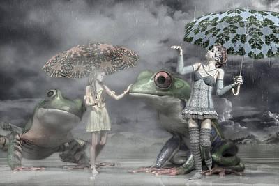 Fantasy Digital Art Rights Managed Images - Rainy Day Daydream  Royalty-Free Image by Betsy Knapp