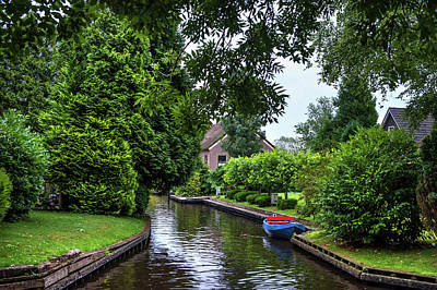 Photograph - Rainy Day In Giethoorn by Jenny Rainbow