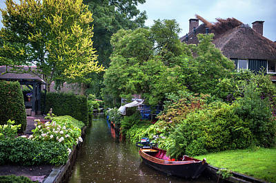 Photograph - Rainy Day In Giethoorn. The Netherlands 1 by Jenny Rainbow