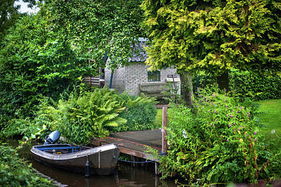 Photograph - Rainy Day In Giethoorn. The Netherlands 3 by Jenny Rainbow