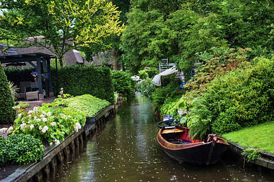 Photograph - Rainy Day In Giethoorn. The Netherlands by Jenny Rainbow
