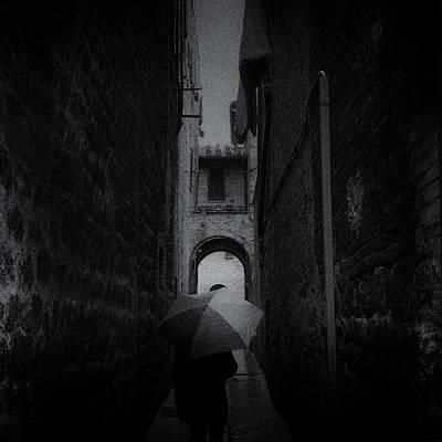 Photograph - rainy day San Gimignano by Frank Andree