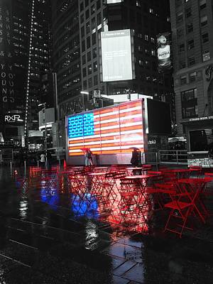 Photograph - Rainy Days In Time Square  by Geraldine Gracia
