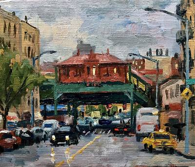 Painting - Rainy Morning 238th Street The Bronx by Thor Wickstrom
