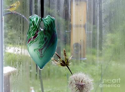 Photograph - Rainy Morning At The Bird Feeder by Rosanne Licciardi