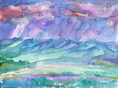 Painting - Rainy Summer Landscape by Dobrotsvet Art