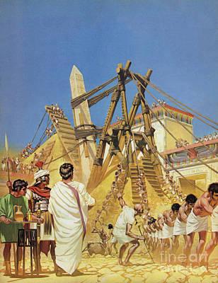 Painting - Raising Cleopatras Needle by Angus McBride