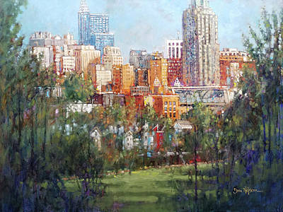 Painting - Raleigh Skyline From Dix Hill by Dan Nelson