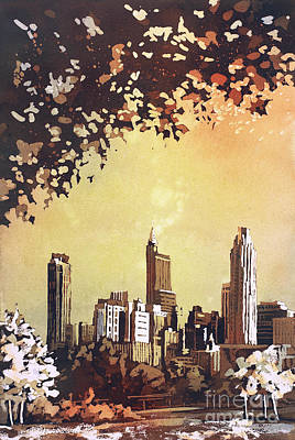 Painting - Raleigh Skyline Iv by Ryan Fox