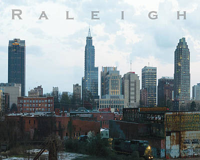 Photograph - Raleigh Skyline Photo 16 X 20 Ratio by Tommy Midyette