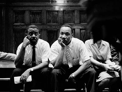 Martin Luther King Wall Art - Photograph - Ralph Abernathy And Martin Luther King by Paul Schutzer