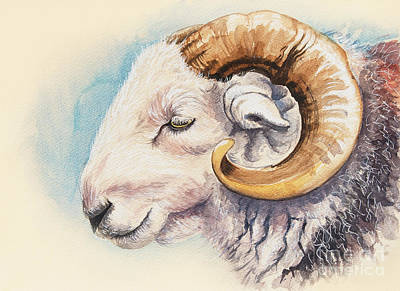 Painting - Ram by Alison Cooper
