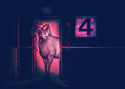 Surrealism Drawings - Ram In The Door by Bob Orsillo