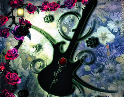 Digital Art - Ramblin Rose by Michael Damiani