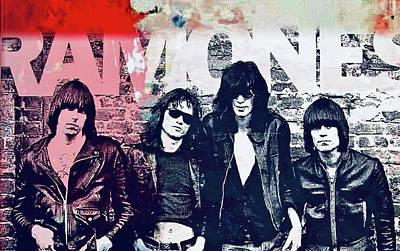Mixed Media - Ramones by Jayime Jean