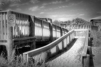 Photograph - Ramp To Relaxation In Black And White by Debra and Dave Vanderlaan