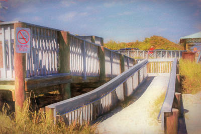 Photograph - Ramp To Relaxation In Watercolors by Debra and Dave Vanderlaan