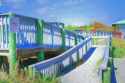 Photograph - Ramp To Relaxation Watercolor Painting by Debra and Dave Vanderlaan