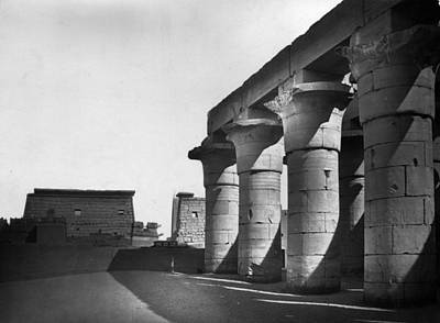 Photograph - Ramses Colonnade by Francis Frith