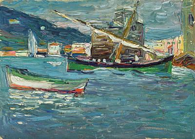 Kandinsky Wall Art - Painting - Rapallo Grey Day - Grauer Tag  by Wassily Kandinsky