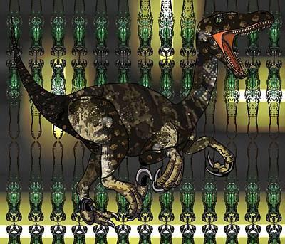 Digital Art - Raptor In Butterfly Lights by Joan Stratton