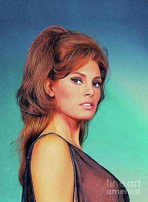 Royalty-Free and Rights-Managed Images - Raquel Welch, Vintage Actress by John Springfield