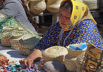 Photograph - Raramuri Vendor by Jeff Brunton