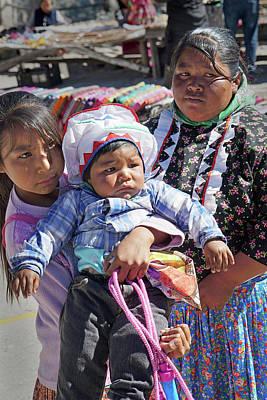 Photograph - Raramuri Woman And Children by Jeff Brunton
