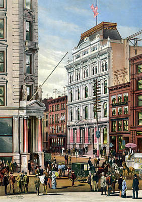 Photograph - Rare Large View Of The New York Stock Exchange 1882  by Doc Braham