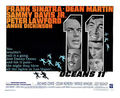 Photograph - Rare Unpublished Lobby Card For Ocean's 11  by Doc Braham