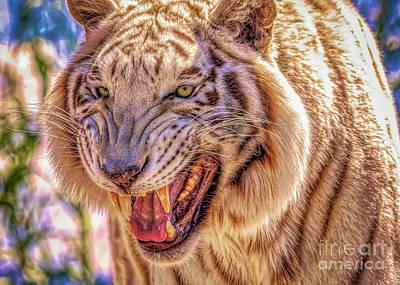 City Scenes - Rare White Tiger by Janice Pariza
