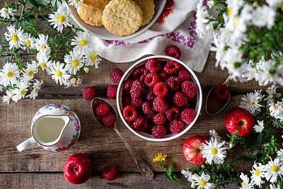 Photograph - Raspberry Breakfast by Top Wallpapers