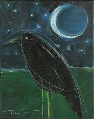 Painting - Raven Moon #5 by Tim Nyberg
