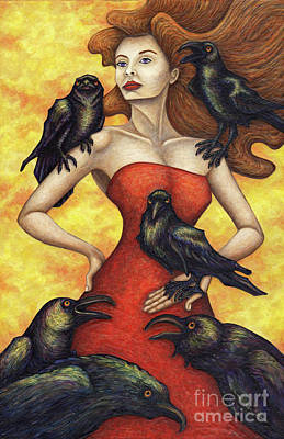 Painting - Raven's Council by Amy E Fraser