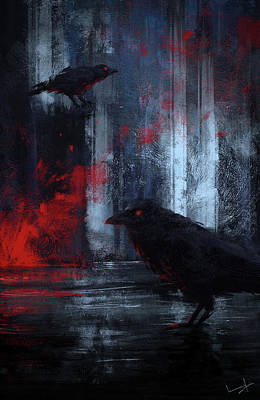 Digital Paint Painting - Ravens by Imad Ud Din