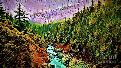 Painting - Ravine A18-20 by Ray Shrewsberry