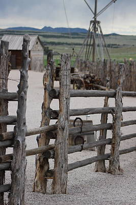 Photograph - Raw Wood Fence Around Fort by Colleen Cornelius