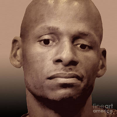 Digital Art - Ray Allen, Jr. by Walter Neal