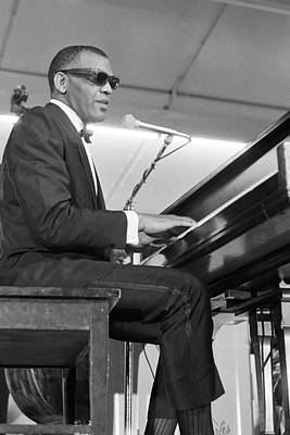 Photograph - Ray Charles At Sound Blast 66 by Michael Ochs Archives