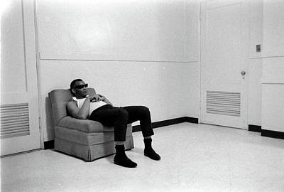 Photograph - Ray Charles Before A Show by Bill Ray