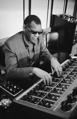 Photograph - Ray Charles During Recording Session by Bill Ray