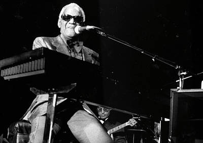 Photograph - Ray Charles Performing by Afro Newspaper/gado