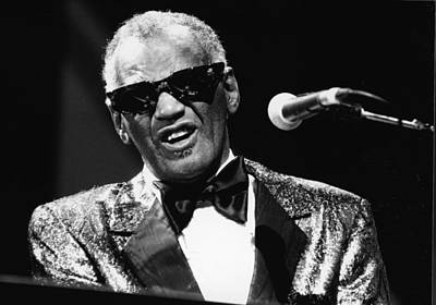 Photograph - Ray Charles Performs In Concert by Hulton Archive