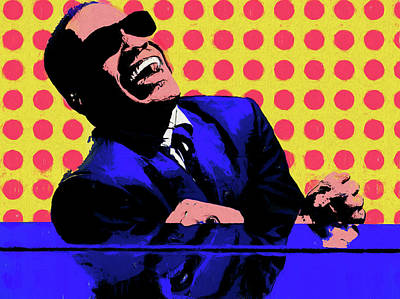 Painting - Ray Charles Pop Art by Dan Sproul