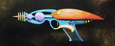 Painting - Ray Gun by David Bader