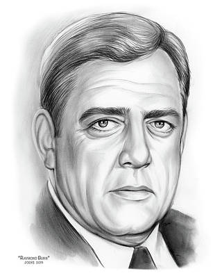Jolly Old Saint Nick - Raymond Burr by Greg Joens