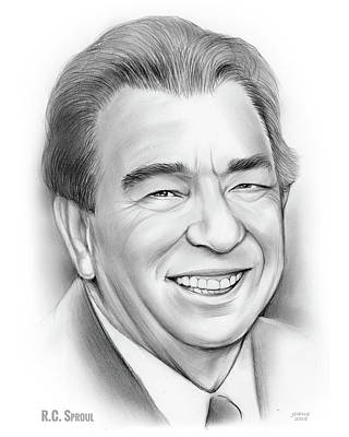 Drawings Royalty Free Images - RC Sproul Royalty-Free Image by Greg Joens
