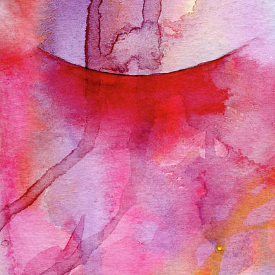 Music Paintings - Reaching - Abstract Watercolor Painting by Susan Porter